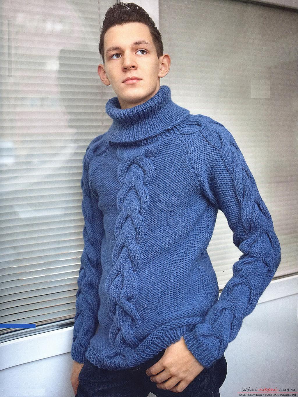 связать свитер спицами из мохера схемы