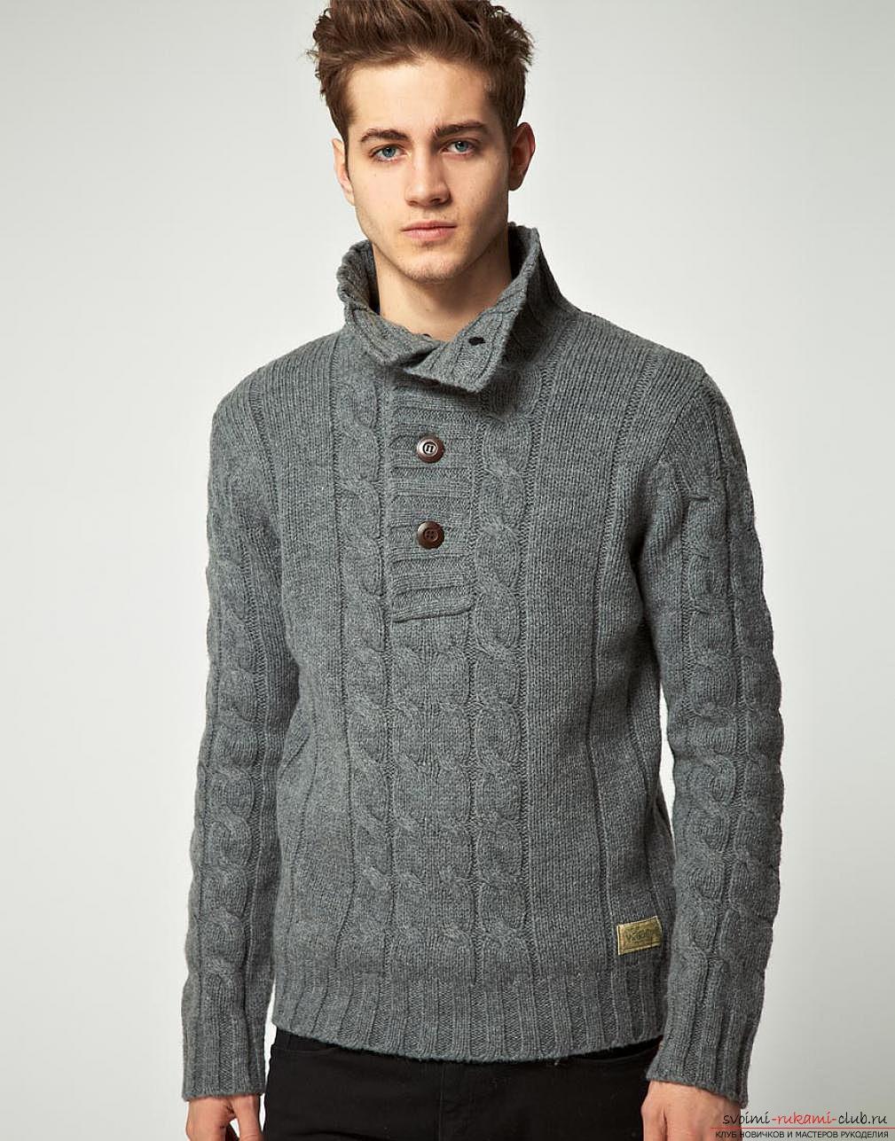 вязаные пуловеры и свитера спицами со схемами и описанием