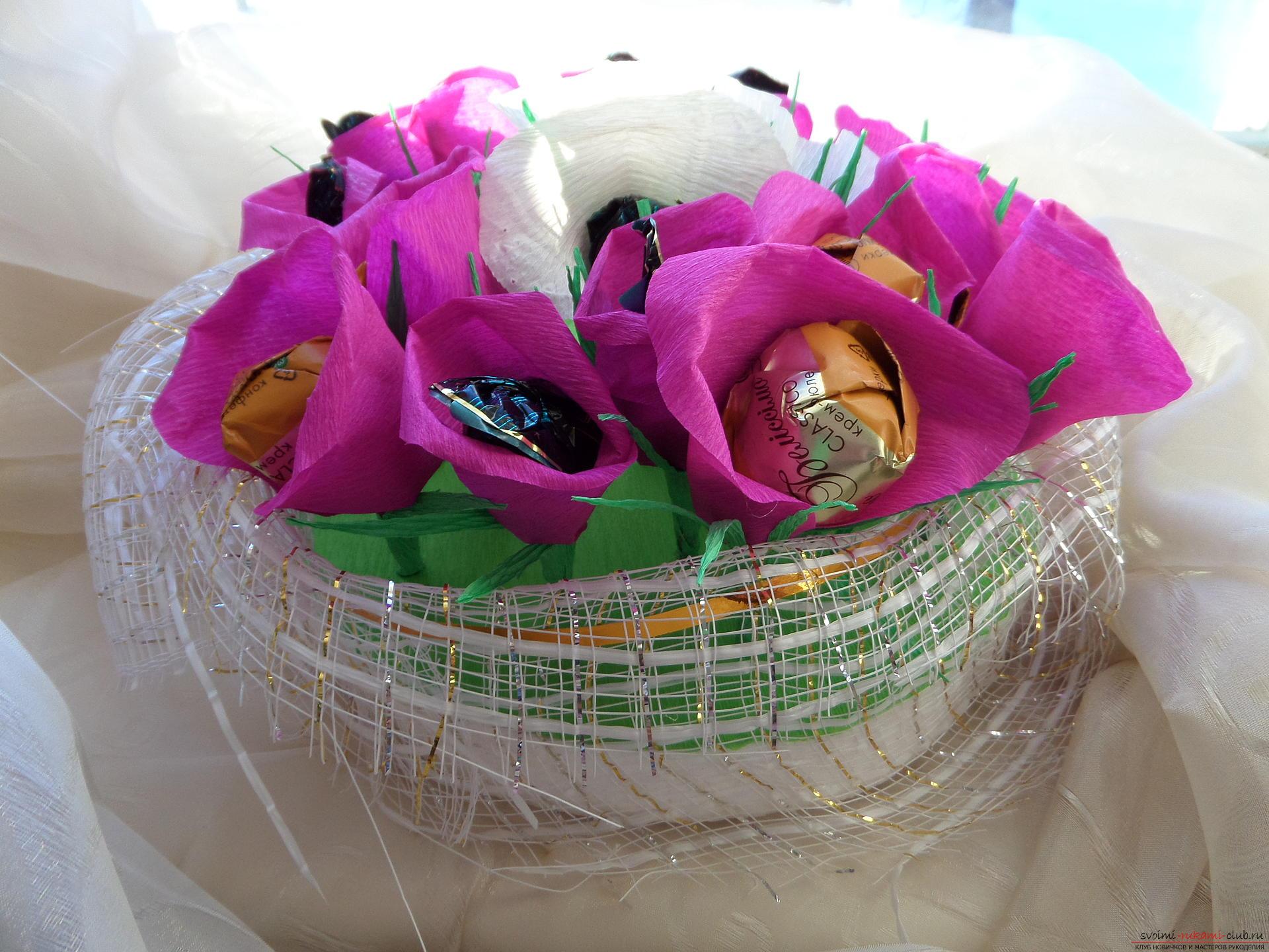 Букет из конфет своими руками: пошагово с фото - Мир Позитива