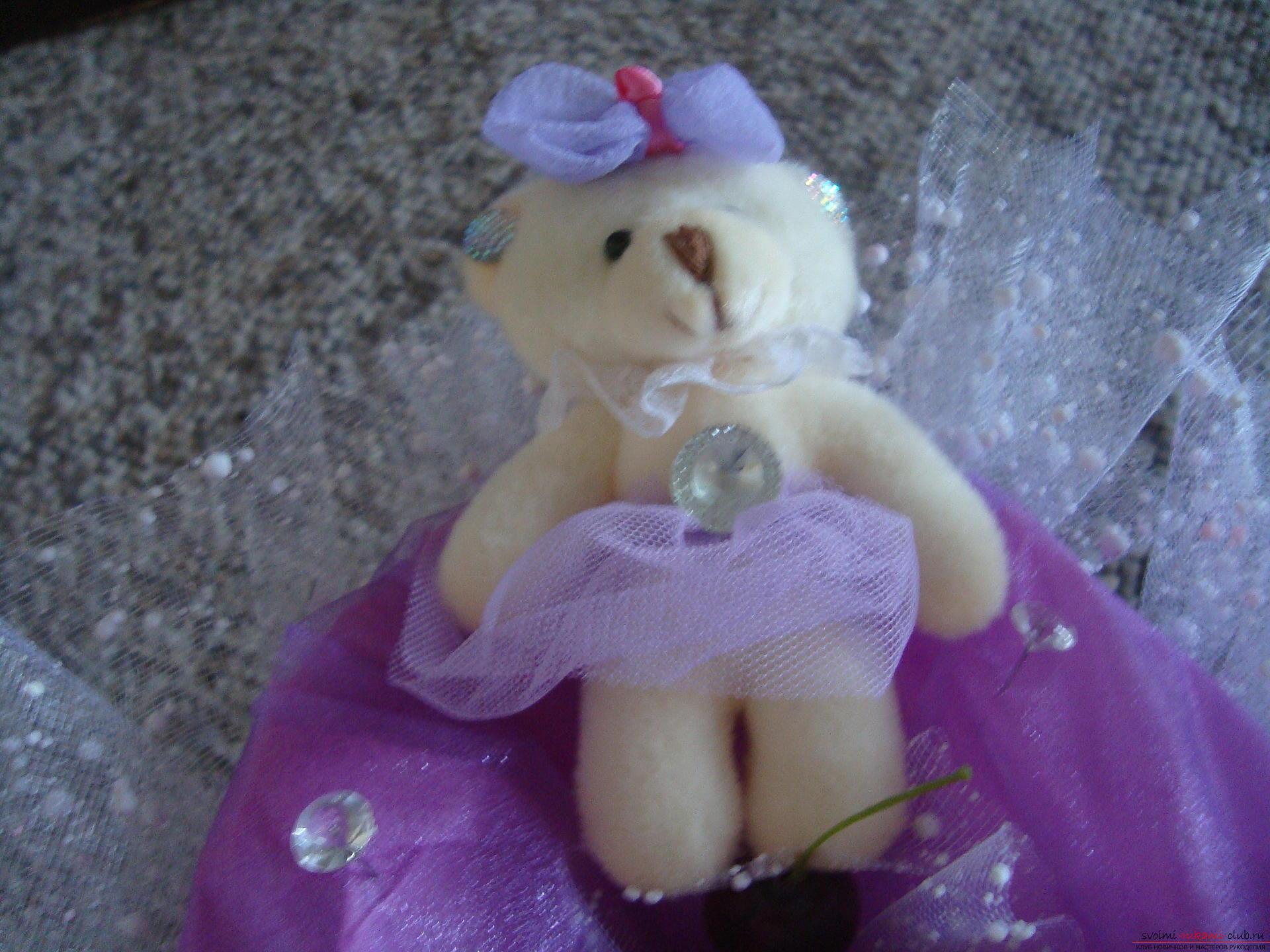 Фото к уроку по созданию букета из мягких игрушек. Фото №3