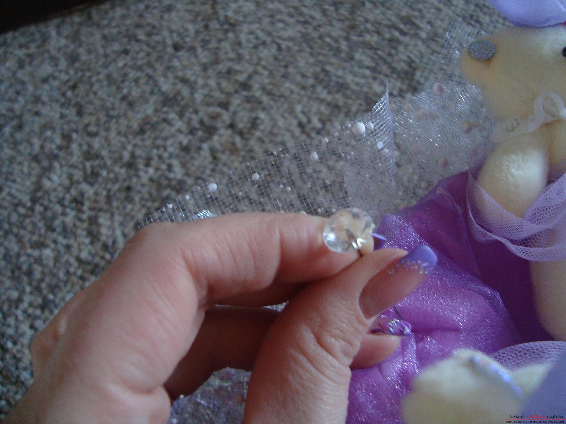 Фото к уроку по созданию букета из мягких игрушек. Фото №5