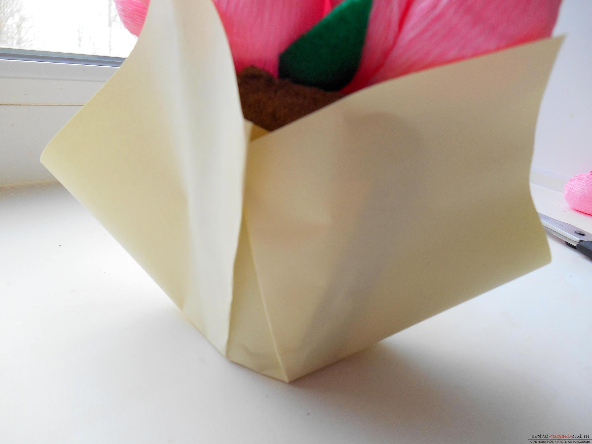 Как обернуть букет гофрированной бумагой своими руками фото
