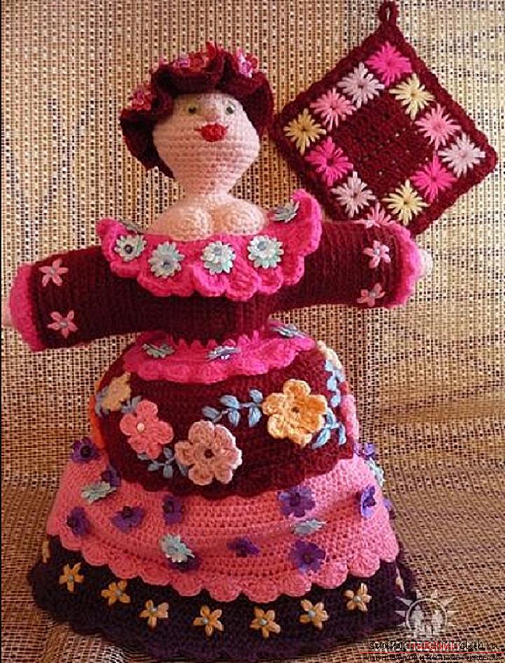 Кукла для чайника своими руками фото 439