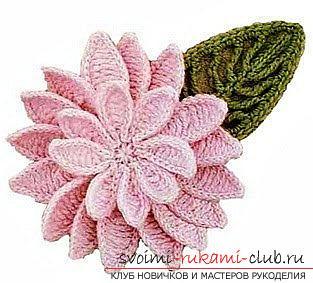 Схемы вязания крючком цветов с описанием