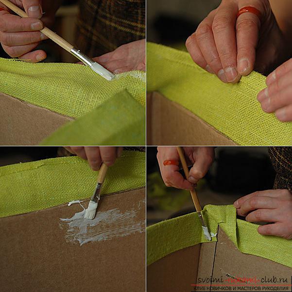 Как сделать своими руками коробочку для белья
