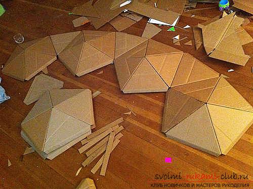 Легко мастерим домик для детей из картона своими руками