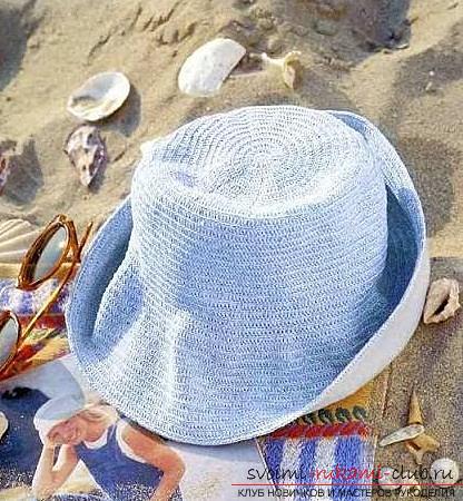 Схемы и описание того, как связать крючком летнюю шляпку для женщины, фото изделий.. Фото №7