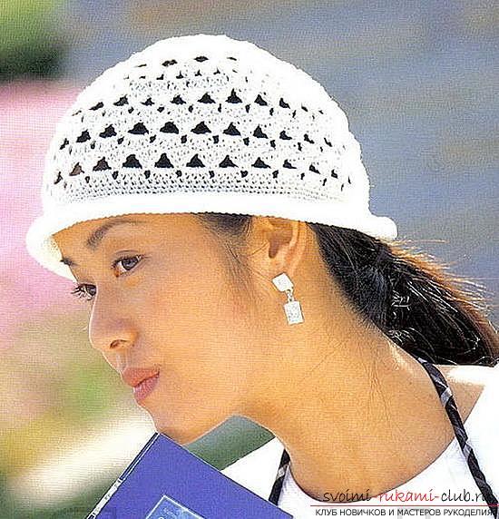 Схемы и описание того, как связать крючком летнюю шляпку для женщины, фото изделий.. Фото №3