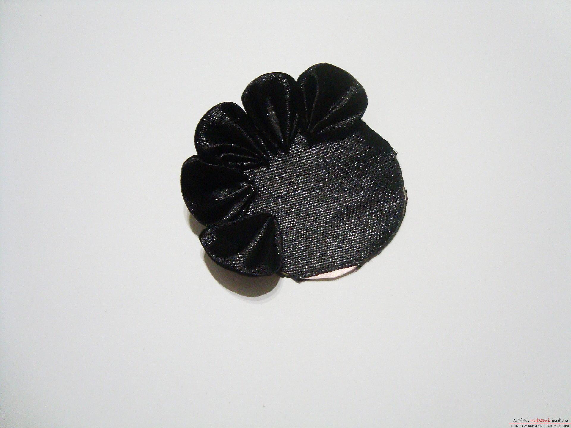 Черно-белые цветы канзаши - мастер класс и подробный урок с видео и фото описанием