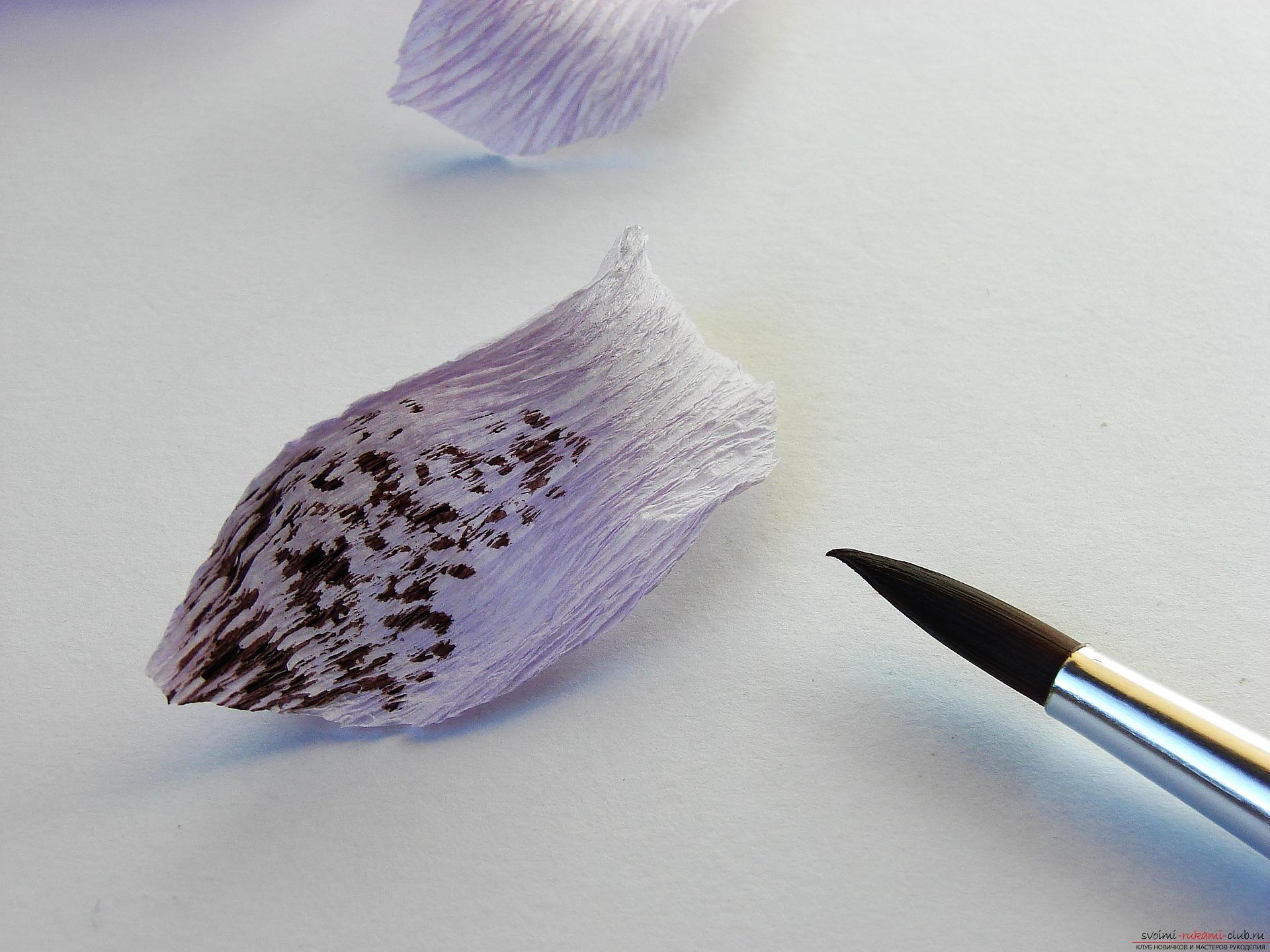 Мастер-класс научит как сделать гофрированные цветы своими руками – лилии из гофрированной бумаги.. Фото №11
