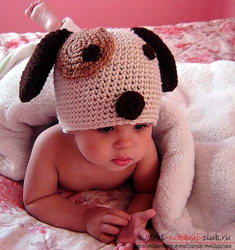Оригинальная детская шапочка