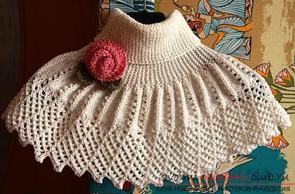 Схема вязания ажурной манишки: