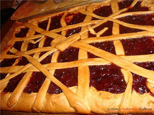 Пирог с джемом из дрожжевого теста в духовке рецепт с пошагово