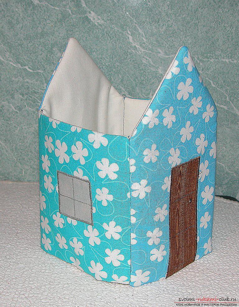 Мастер-класс - делаем текстильный функциональный домик своими руками. Фото №11