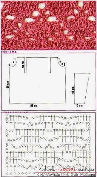 Схемы и описание вязания крючком женских летних кардиганов, фото готовых изделий.. Фото №5