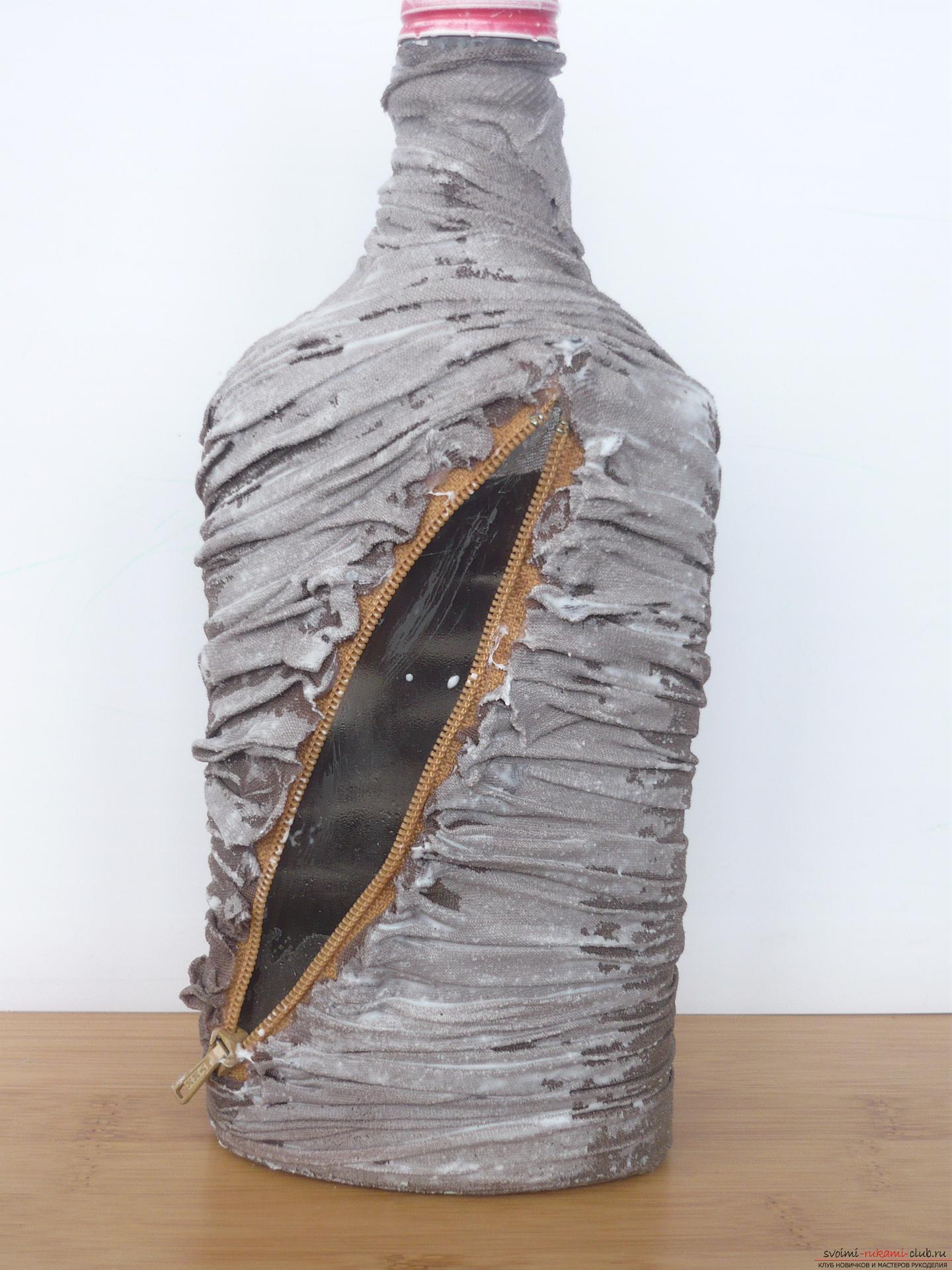 цикорным декорирование бутылок монетами мастер класс с фото его оттуда