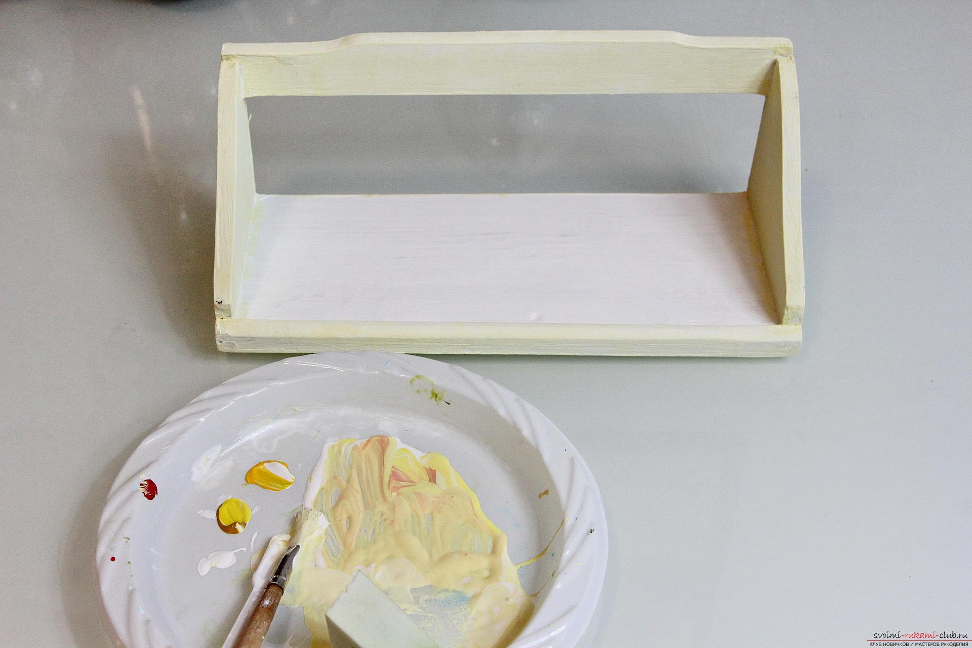 Этот подробный мастер-класс с фото и описанием научит как создать своими руками декор полочки для кухни.. Фото №5