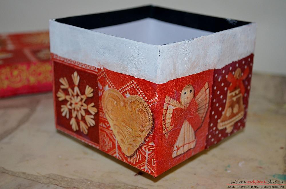 Коробки декоративные мастер класс