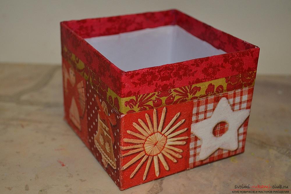 Декорирование своими руками коробочки для
