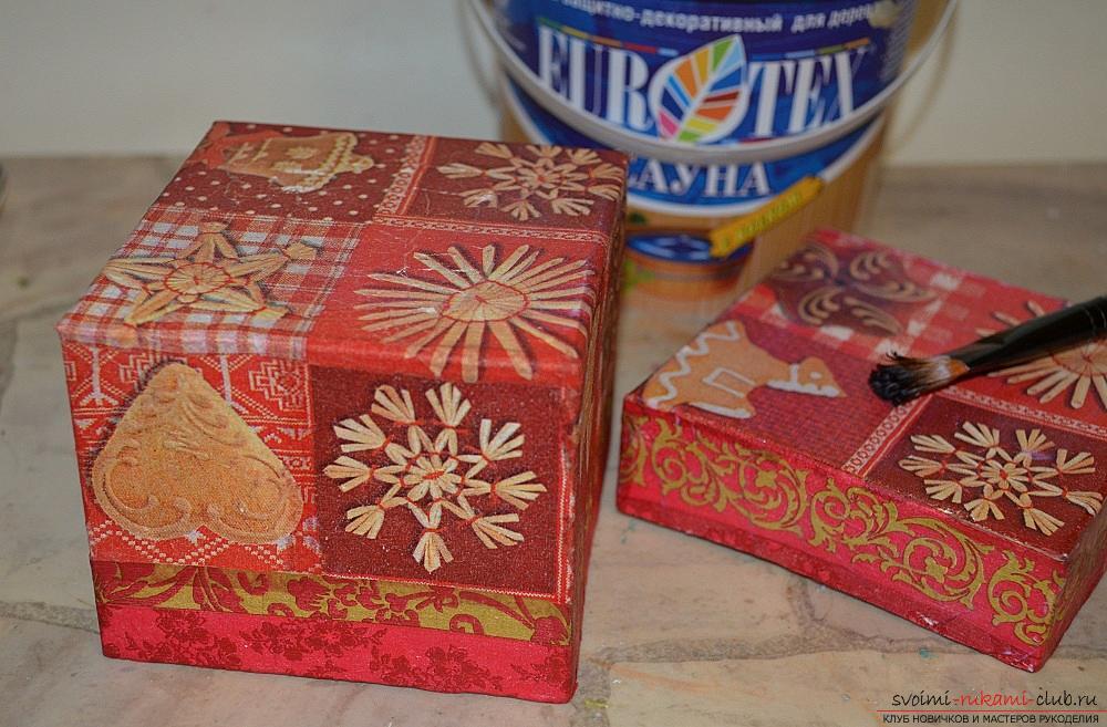 Как сделать картонную коробку для декупажа