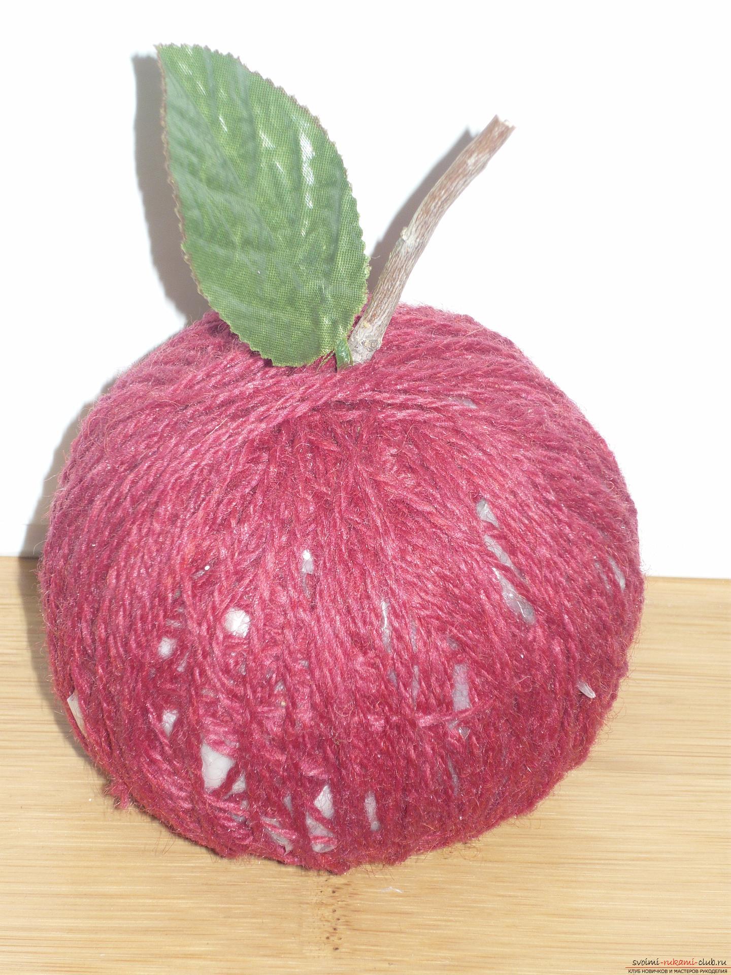 Как сделать искусственное яблоко своими руками 37