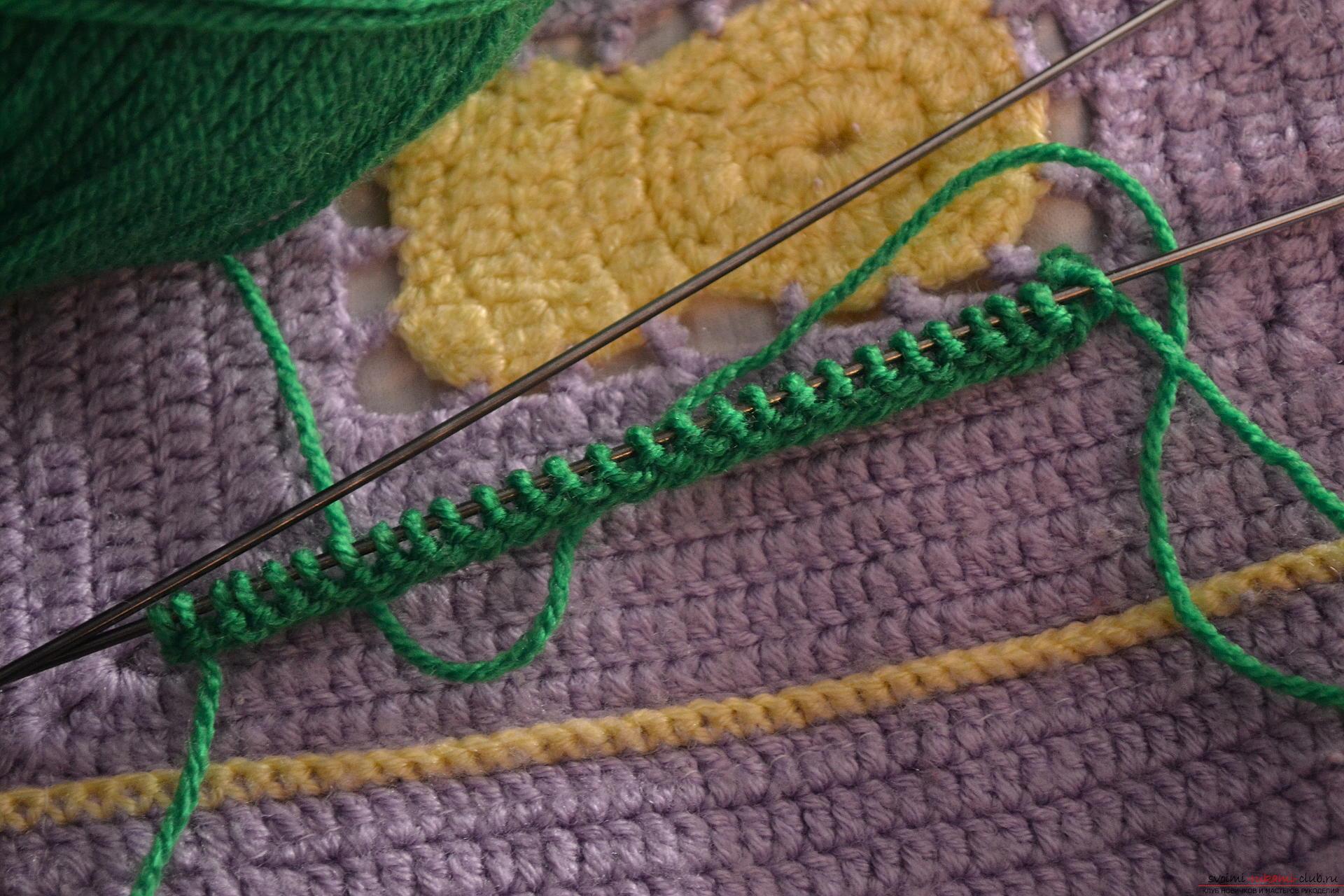 Этот мастер-класс научит как связать спицами комплект для новорожденного - шапочку и пинетки Арбузик