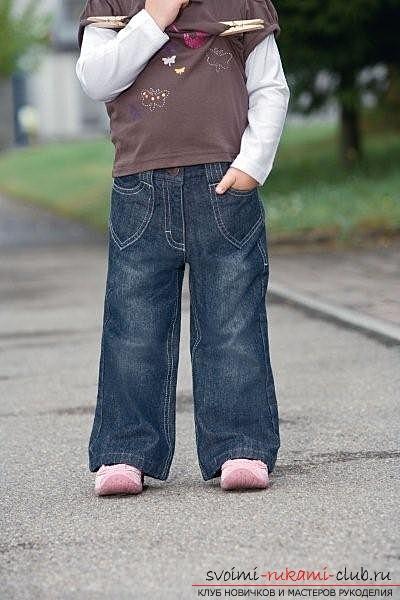 Как собственными руками сшить детские джинсы дома. Фото №1