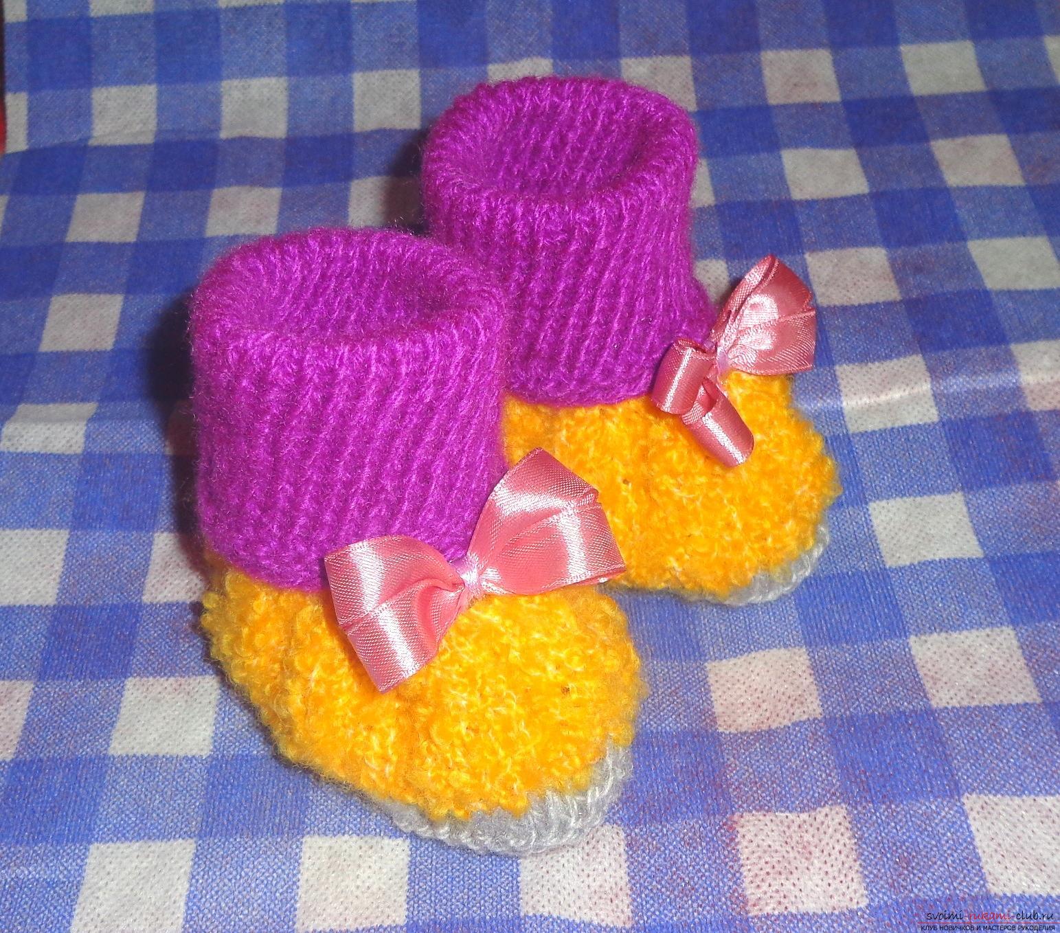 Вязание сапожек фото