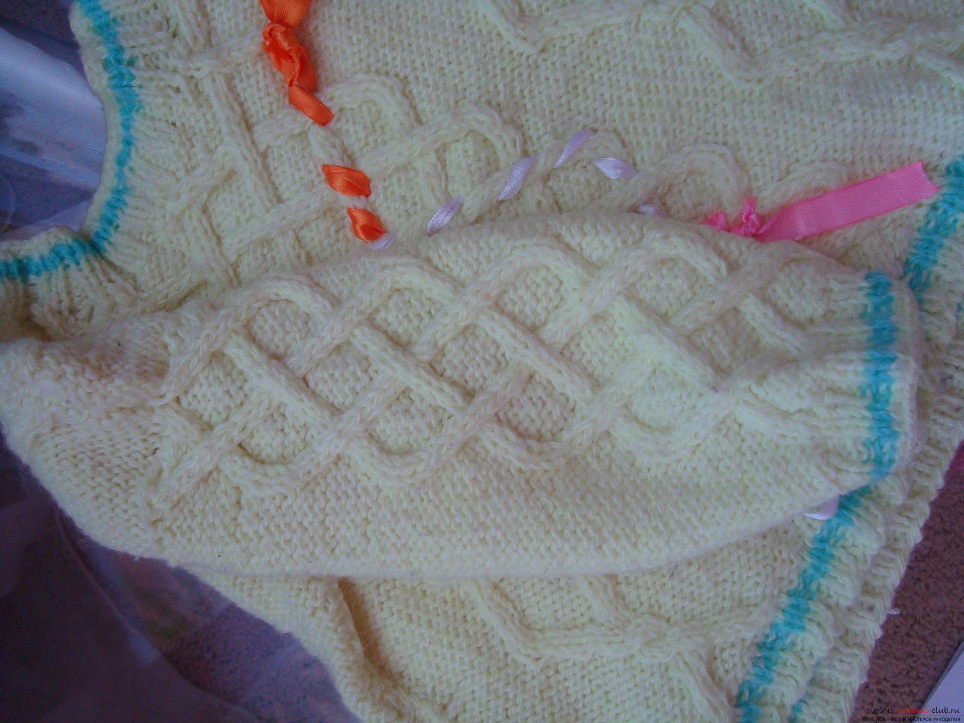 Пошаговая фото-инструкция по вязанию детского свитера на спицах. Фото №2