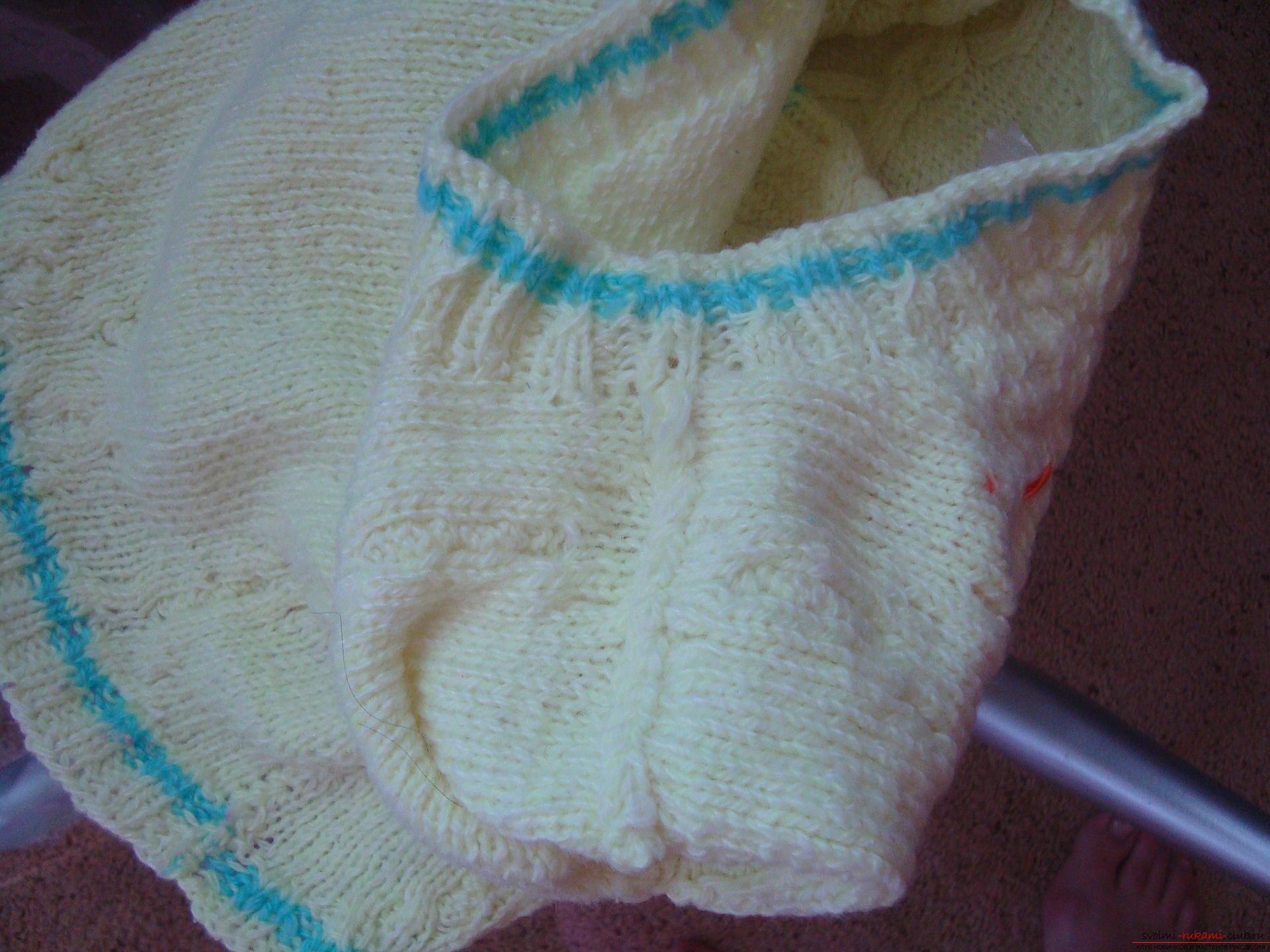 Пошаговая фото-инструкция по вязанию детского свитера на спицах. Фото №9