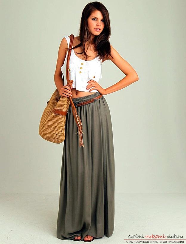 Как сделать выкройку длинной юбки под ваш вкус своими руками. Фото №1
