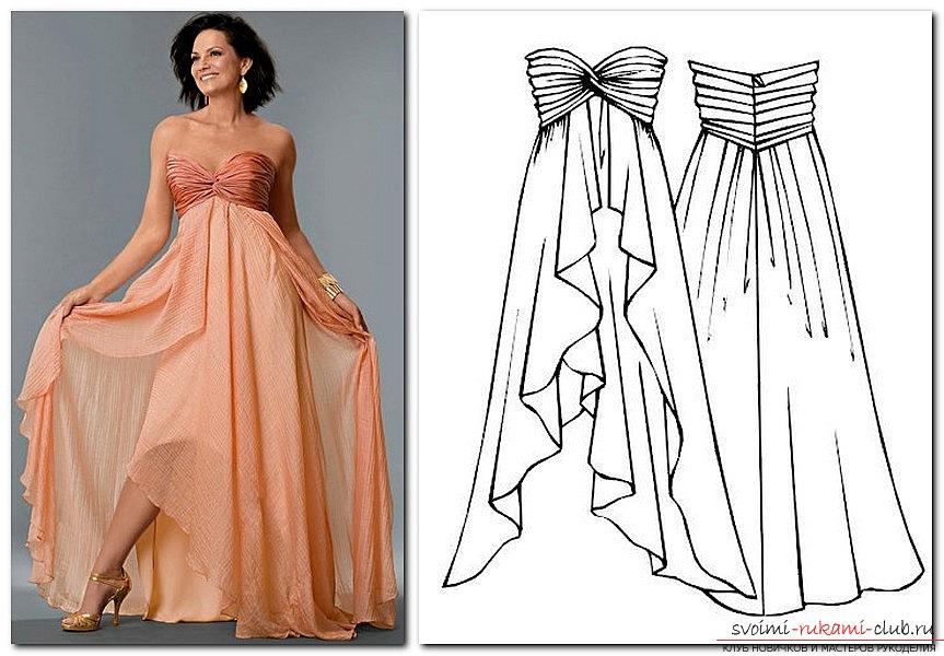 Выкройка для платья карандашом
