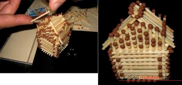 Спичечные домики схемы сборки