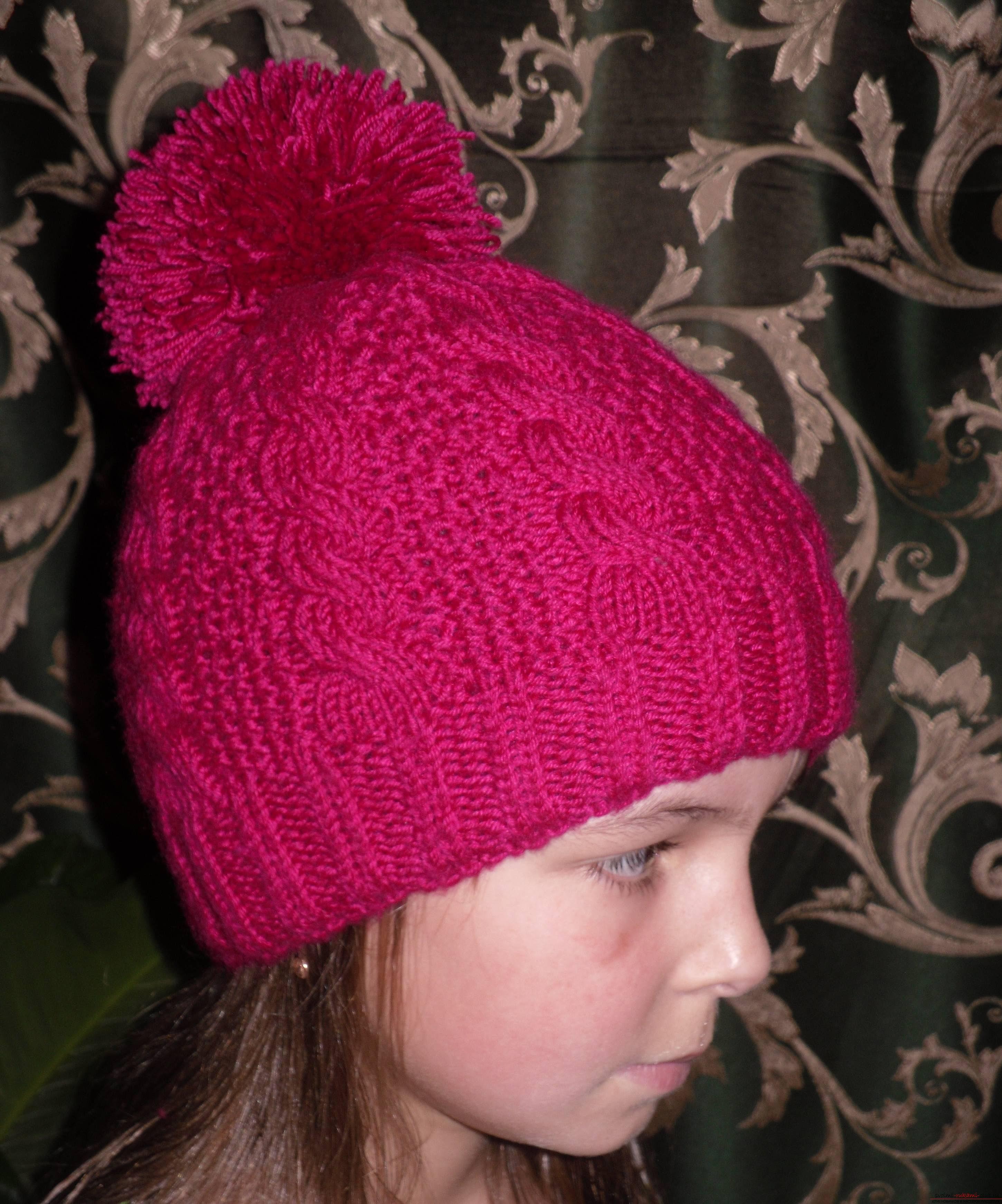Схема вязания шапок детям фото 910