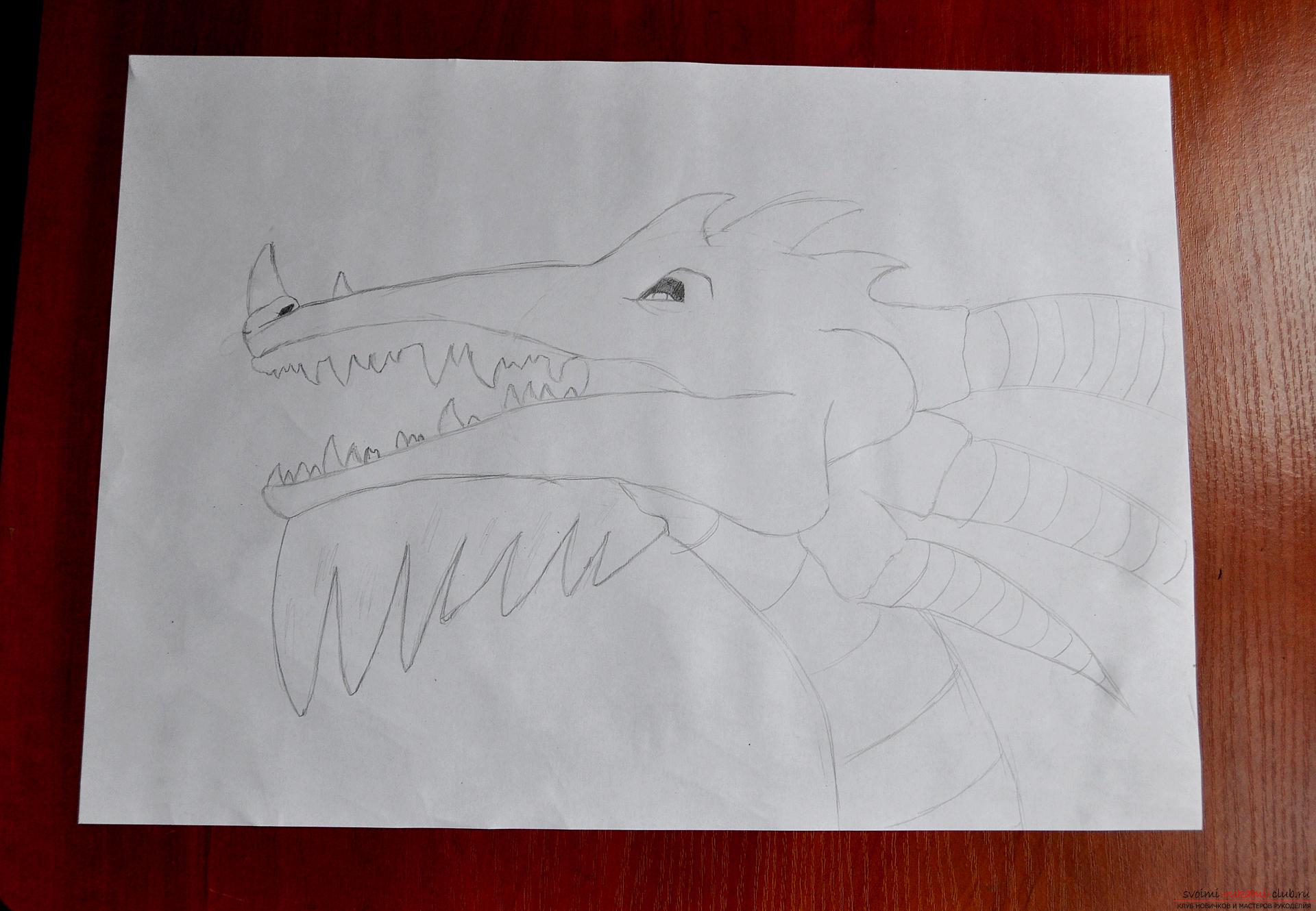 Этот подробный мастер-класс рисования простым карандашом научит как нарисовать дракона карандашом поэтапно