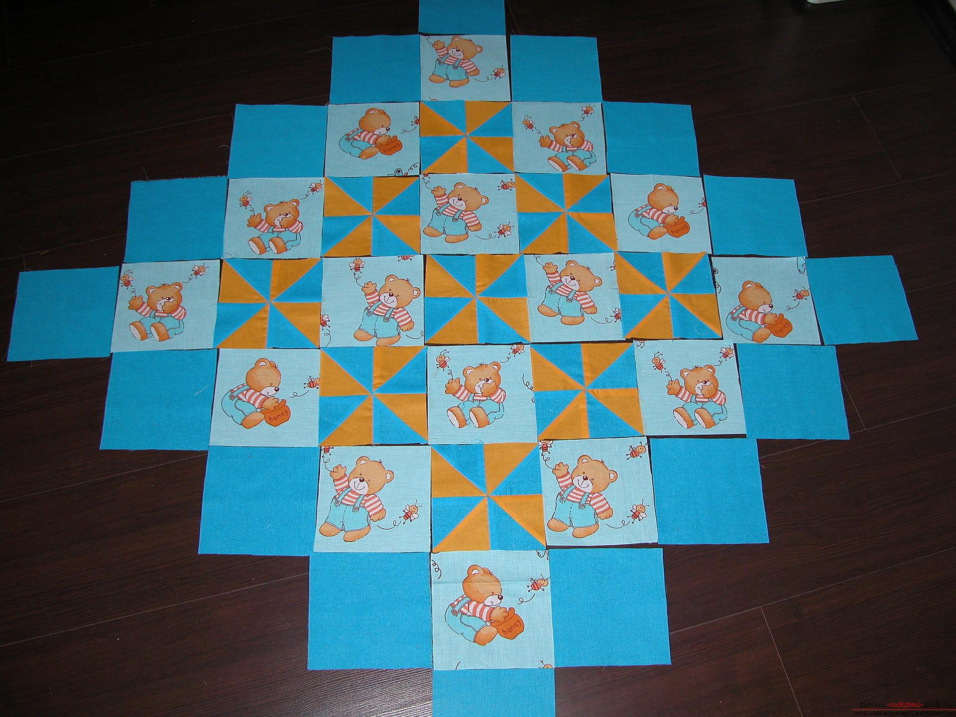 Подробный мастер класс по шитью детского лоскутного одеяла. Фото №9