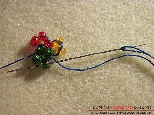 Мастер классы по плетению жгутов из бисера различных размеров, фото готовый изделий.. Фото №6