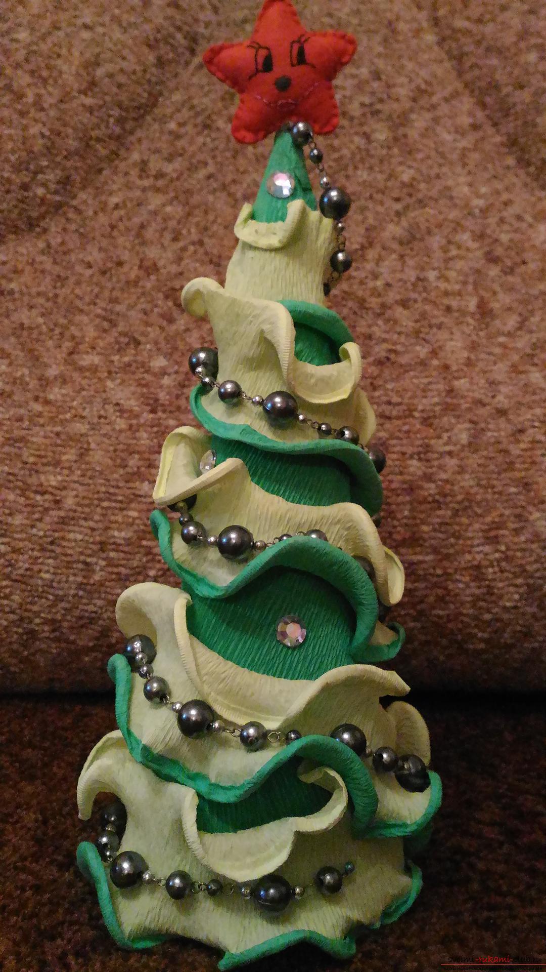 Новогодние украшения из гофрированной бумаги фото