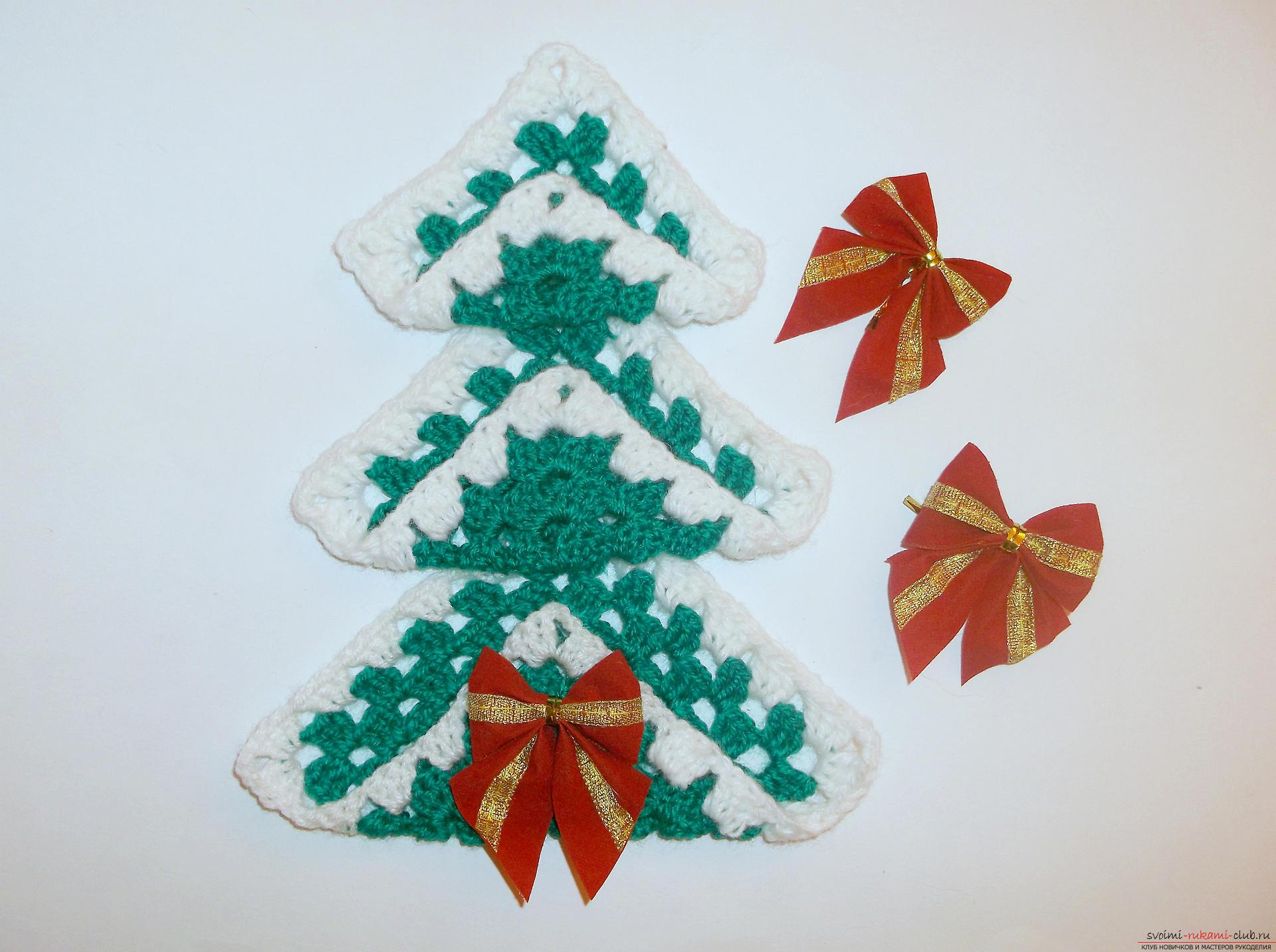 Как связать новогоднюю елочку крючком? Урок по вязанию крючком елочки с подробными инструкциями и фото