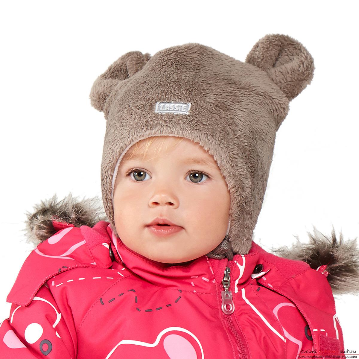Вязание шапки с ушками спицами на зиму