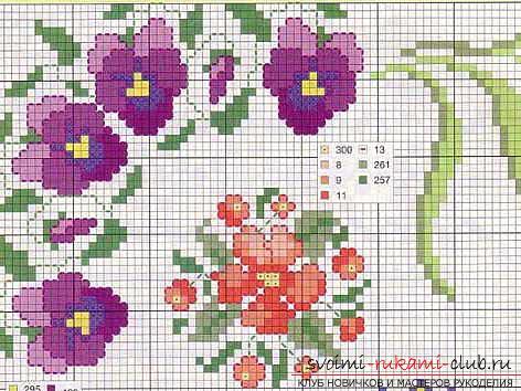 Вышиваем крестом цветы по описанию и схемам. Фото №7