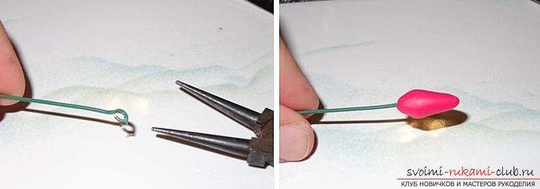 Как сделать своими руками ободок для волос из полимерной глины, мастер класс с фото.. Фото №17