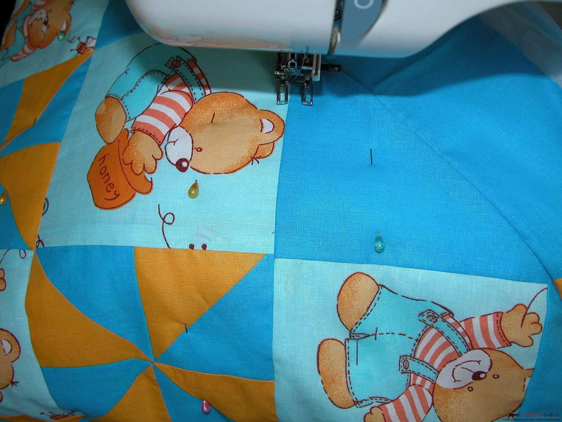 Подробный мастер класс по шитью детского лоскутного одеяла. Фото №18