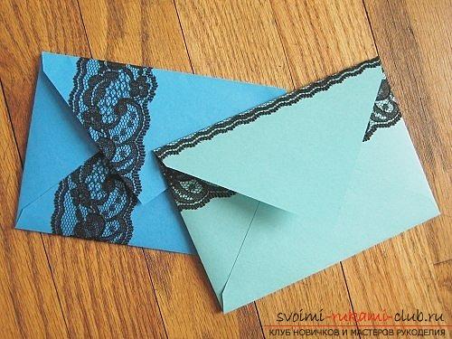 Красивый конверт своими руками фото