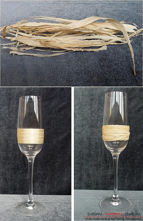 Как украсить бокалы полимерной глиной и как сделать кольца для салфеток из термопластики.. Фото №17