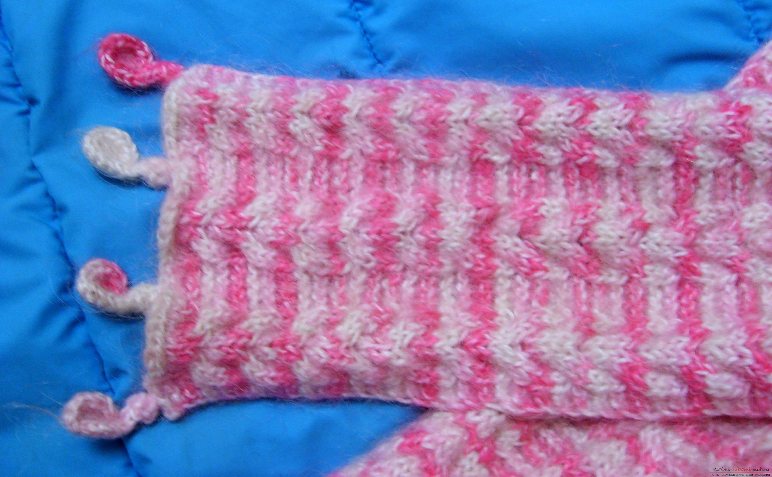 вязание теплых детских шарфов схемы