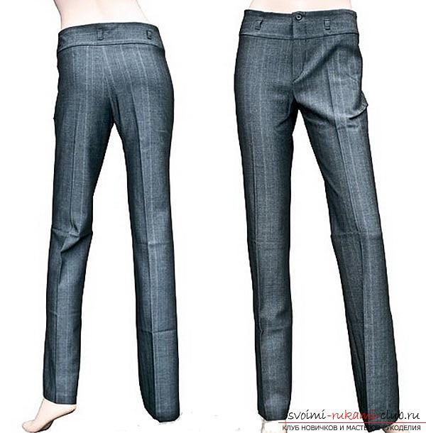 подробная выкройка классических брюк