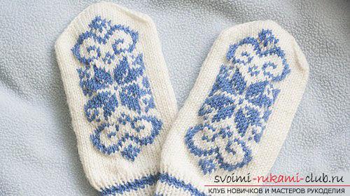 Схемы вязания спицами красивых варежек спицами