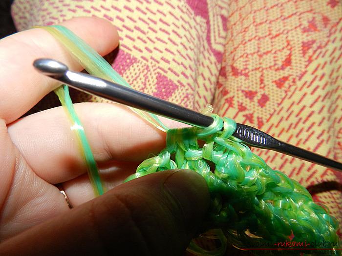 Вяжем удобную мочалку крючком. Фото №7