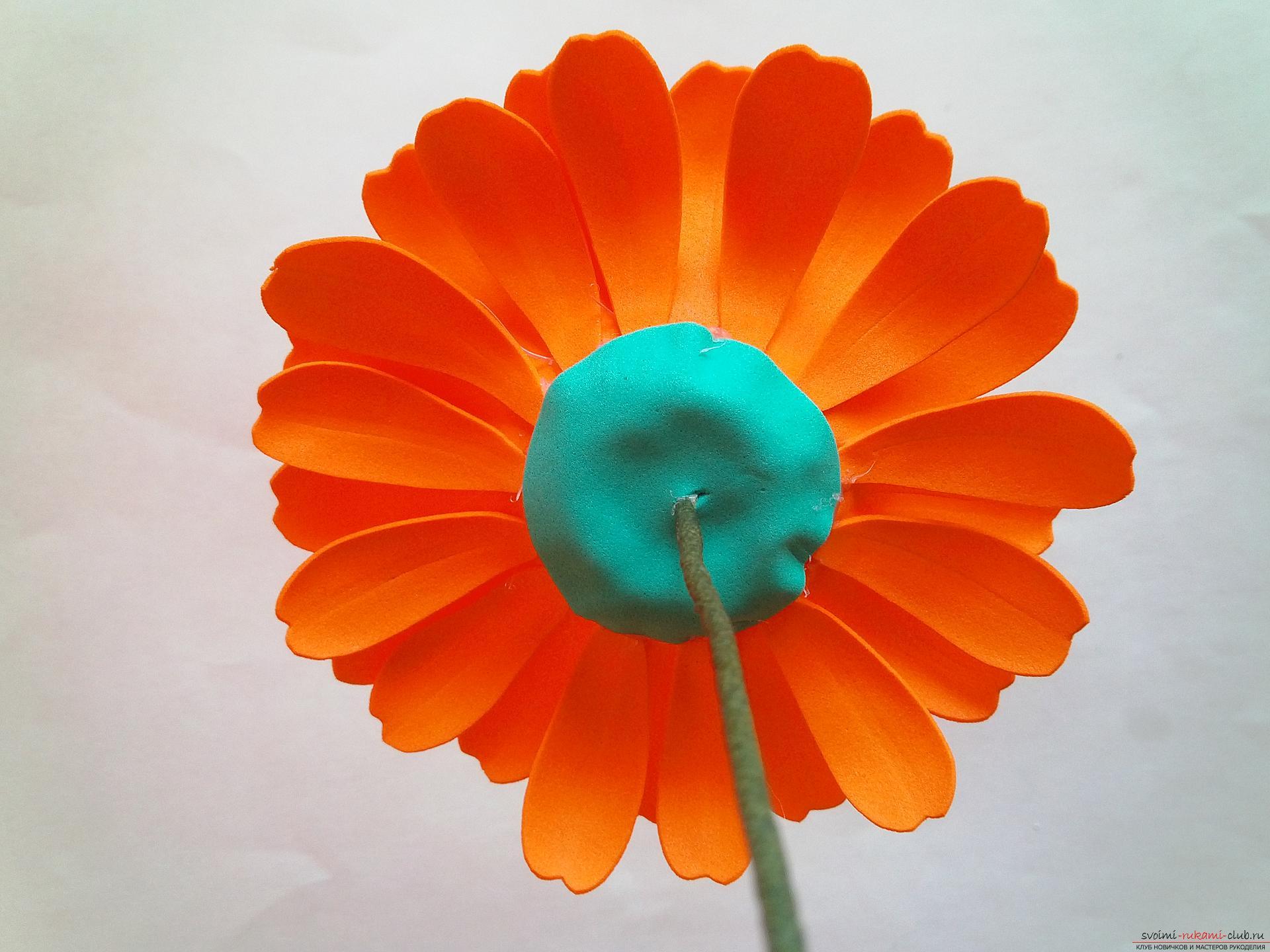 Самодельные цветы из фоамирана: герберы в композициях